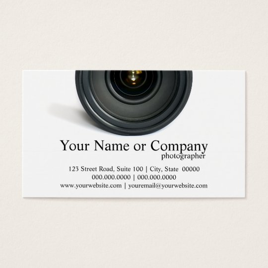 Photographer Camera Lens Business Cards