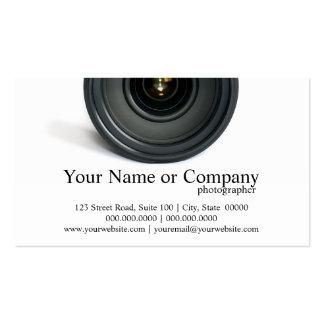 Photographer Camera Lens Business Cards