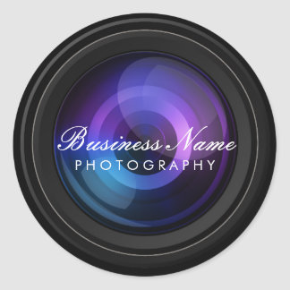 Photographer Camera Lens Professional Photography Classic Round Sticker