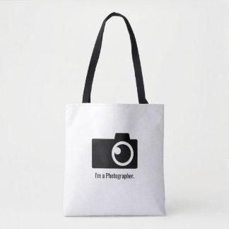 Photographer Camera Logo Minimal Tote Bag