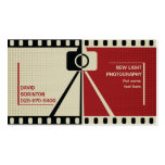 Photographer camera photography black, red, beige pack of standard business cards