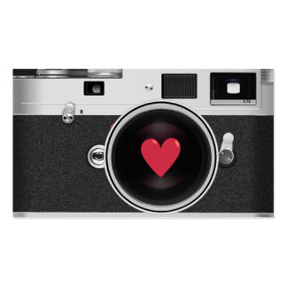 Photographer Camera & Red Heart Photography Pack Of Standard Business Cards
