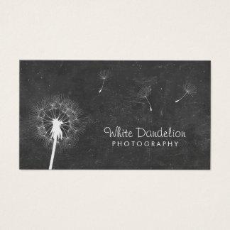 Photographer Chalkboard Dandelion Photography Business Card