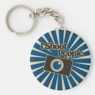 Photographer Design Basic Round Button Key Ring