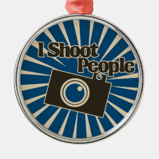 Photographer Design Silver-Colored Round Decoration