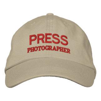 PHOTOGRAPHER EMBROIDERED BASEBALL CAP