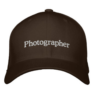 Photographer Embroidered Hat