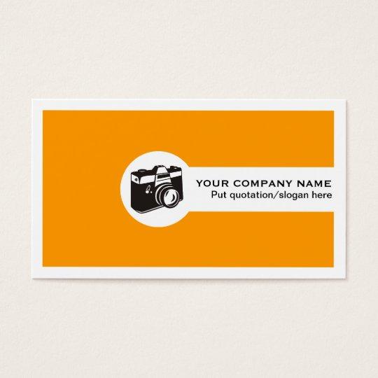 Photographer feminine business cards-orange business card
