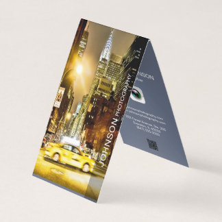 photographer folded business card