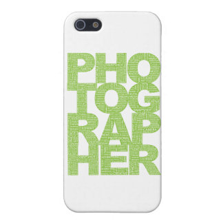 Photographer - Green Text Case For The iPhone 5