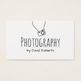 Photographer Hand Script Minimalist Business Card