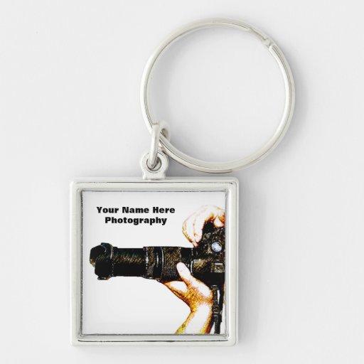 Photographer Holding DSLR Camera Key Chain