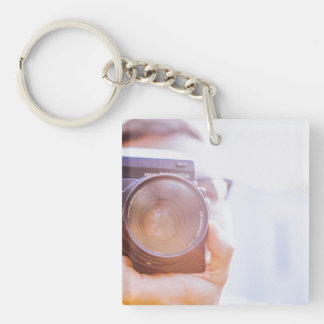 photographer Single-Sided square acrylic keychain