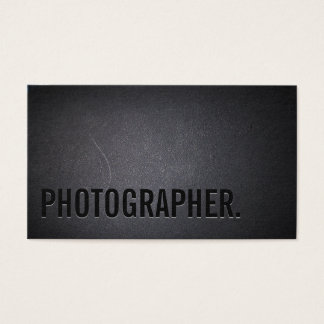 Photographer Minimalist Bold Text Photography