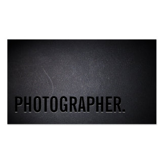 Photographer Minimalist Bold Text Photography Pack Of Standard Business Cards