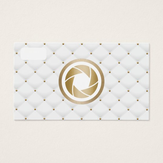 Photographer Modern Gold Camera Luxury Photography Business Card