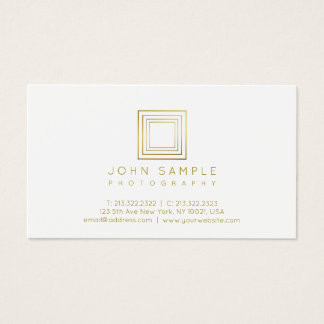 Photographer Modern Gold Look Photography Stylish Business Card