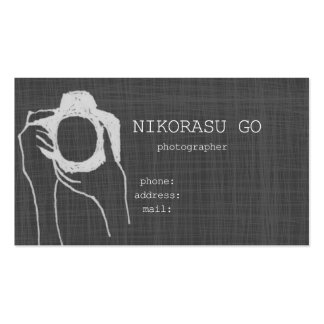 photographer pack of standard business cards