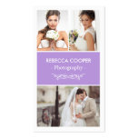 Photographer Photo Showcase - Chic Lavender Purple Pack Of Standard Business Cards