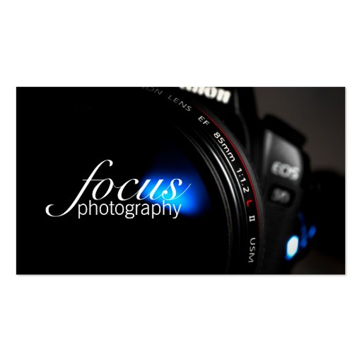 Photographer Photography Camera Lens Portrait Business Card Templates