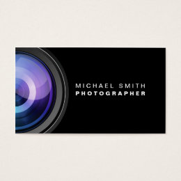 Photography business cards business card printing zazzle uk photographer photography camera lens professional business card reheart Gallery