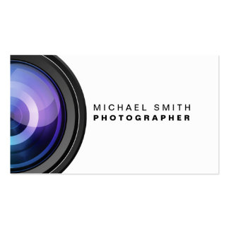 Photographer Photography Camera Lens Professional Pack Of Standard Business Cards