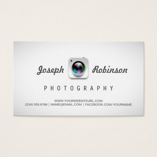 Photographer Photography with Your Best Photos Business Card