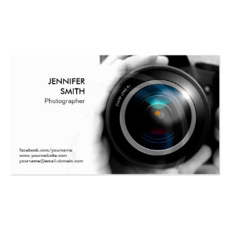 Photographer Photojournalist Camera Lens Studio Pack Of Standard Business Cards