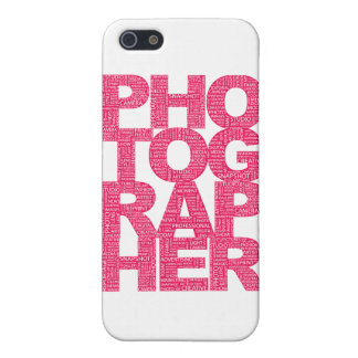 Photographer - Pink Text Case For The iPhone 5