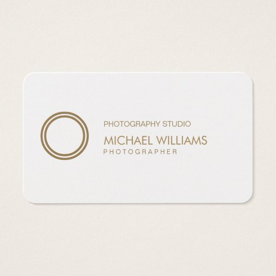 Photographer - Professional elegant white symbol Business Card
