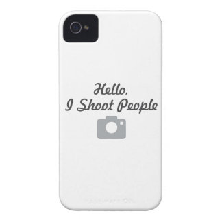 Photographer promotion-  hello, I shoot people iPhone 4 Cases