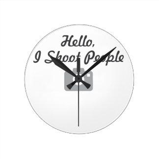 Photographer promotion-  hello, I shoot people Round Clock