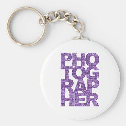 Photographer - Purple Text Key Chains