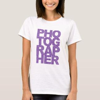 Photographer - Purple Text T-Shirt