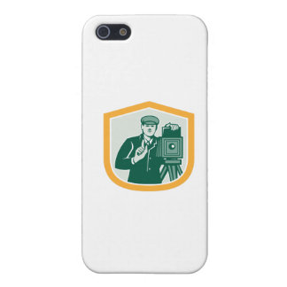 Photographer Shooting Vintage Camera Shield Retro iPhone 5 Covers
