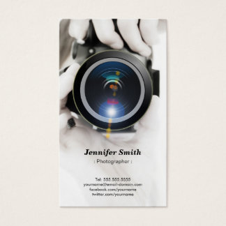 Photographer - Show your best photo on the back Business Card