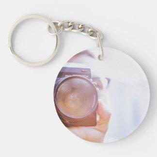 photographer Single-Sided round acrylic key ring