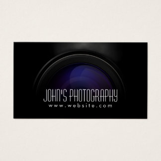 Photographer Smoking Camera Lens Professional Business Card