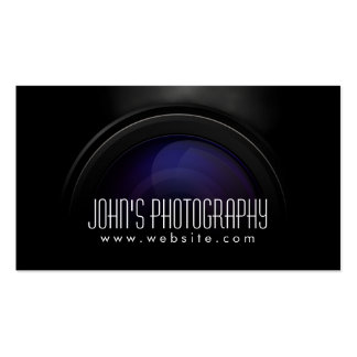 Photographer Smoking Camera Lens Professional Pack Of Standard Business Cards