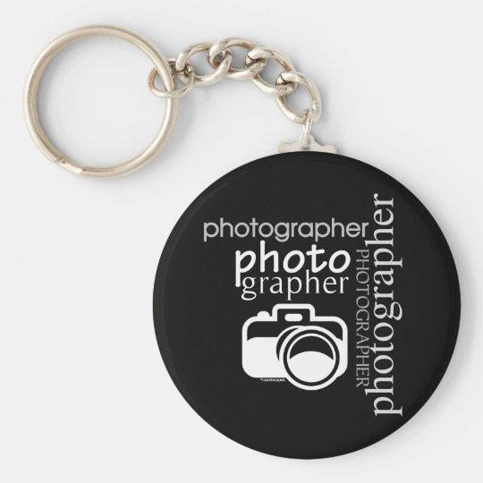 Photographer v.2 basic round button key ring