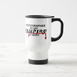 Photographer Vampire by Night Travel Mug