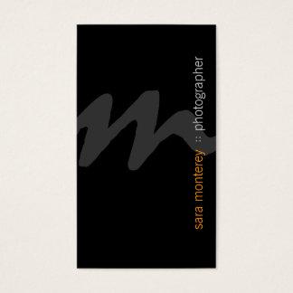 Photographer Visual Arts Media Bold Monogram Dark Business Card