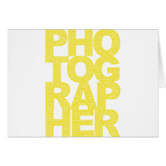 Photographer - Yellow Text Card
