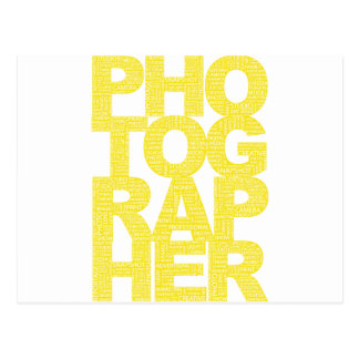 Photographer - Yellow Text Post Cards