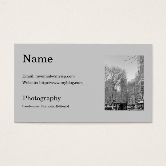 Photographer's Business Card Template