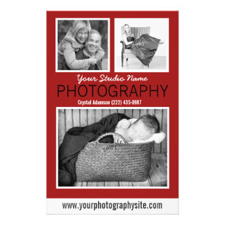 Photographer's Business Handout with Three Photos