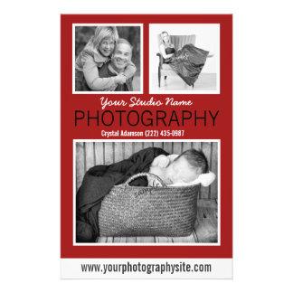 Photographer's Business Handout with Three Photos 14 Cm X 21.5 Cm Flyer
