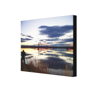 Photographers Dawn Stretched Print Stretched Canvas Prints