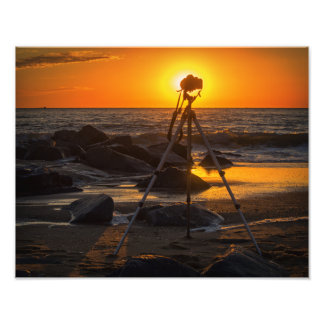 Photographer's Office at the Beach Photo Print