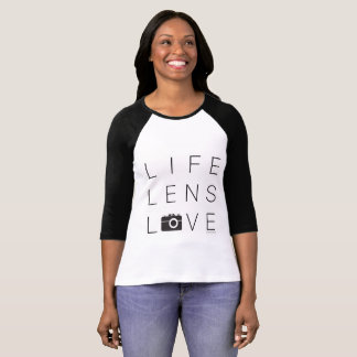 Photographers Raglan Sleeve | Life Lens Love T-Shirt